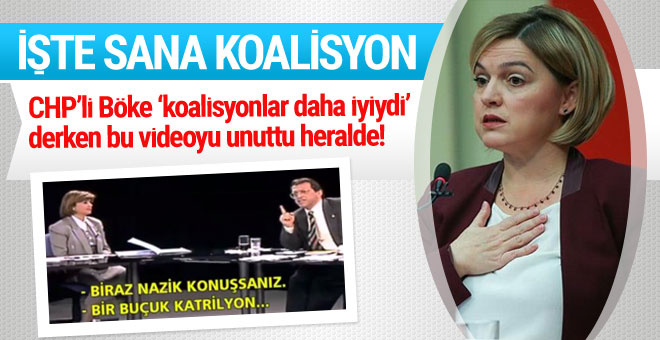 Koalisyonları öven CHP'li Böke'yi yalanlayan video