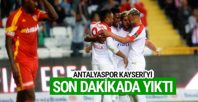 Antalyaspor Kayserispor maçının sonucu