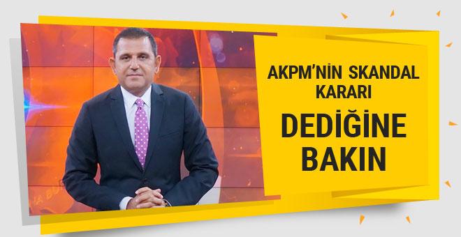 Fatih Portakal'dan AKPM seviciliği! Dediğine bakın!