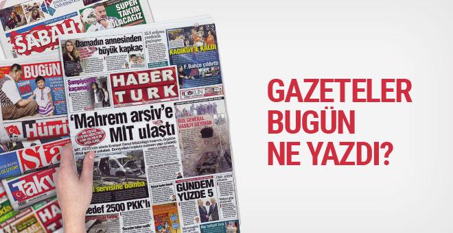 Gazete manşetleri Karar - Sözcü - Aydınlık 27 Nisan 2017