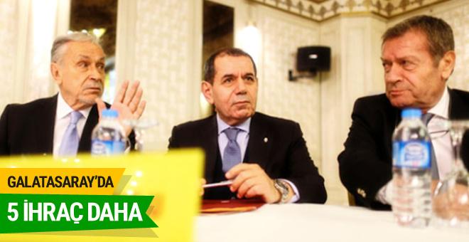 Galatasaray yönetiminde 5 ihraç daha