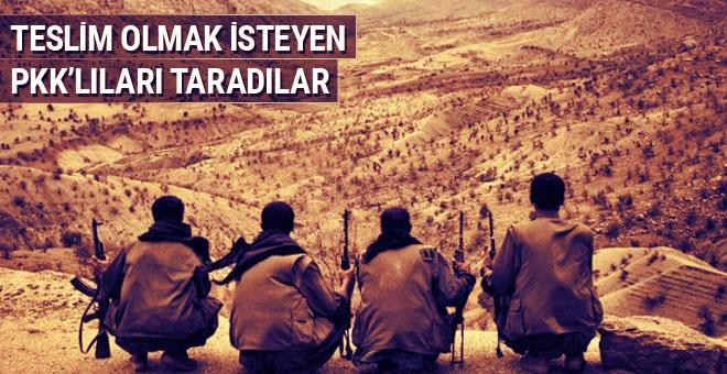 Teslim olmak isteyen PKK'lılara ateş açtılar