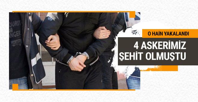 4 askerimizi şehit eden hain İzmir'de yakalandı
