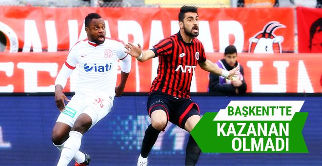 Gençlerbirliği - Antalyaspor maç özeti