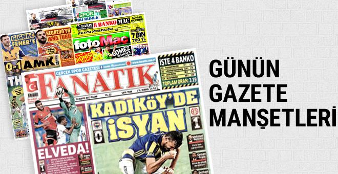 Günün spor gazete manşetleri! 14 Mayıs 2017