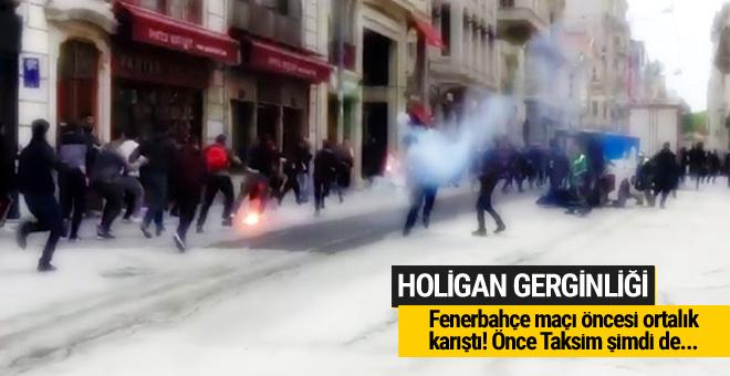Taksim'de Fenerbahçe-Olympiakos gerilimi