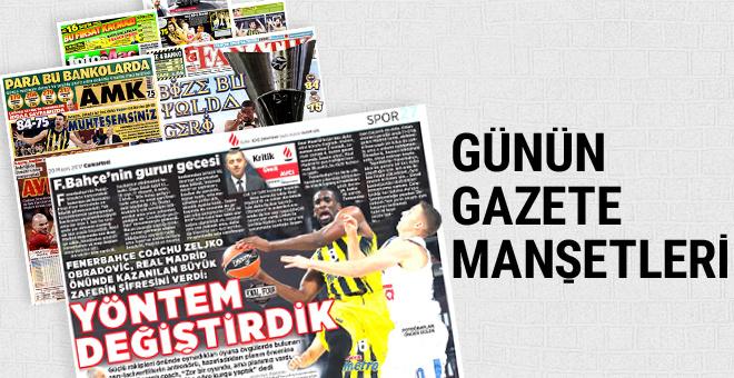 Günün spor gazete manşetleri! 20 Mayıs 2017
