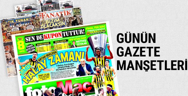 Günün spor gazete manşetleri! 21 Mayıs 2017