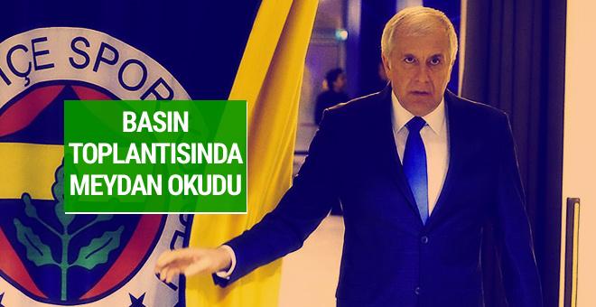 Obradovic basın toplantısında meydan okudu