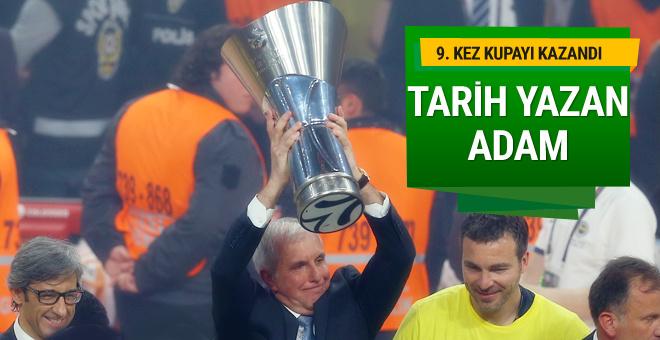 Zeljko Obradovic 9. Euroleague şampiyonluğunu kazandı