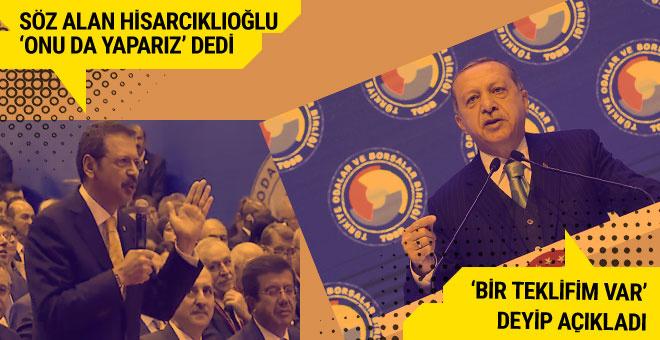 Erdoğan teklif etti Hisarcıklıoğlu herkesin önünde söz verdi