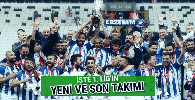 TFF 1. Lig'e çıkan son takım belli oldu