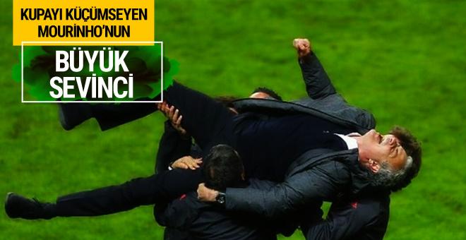 Kupayı küçümseyen Mourinho'nun büyük sevinci