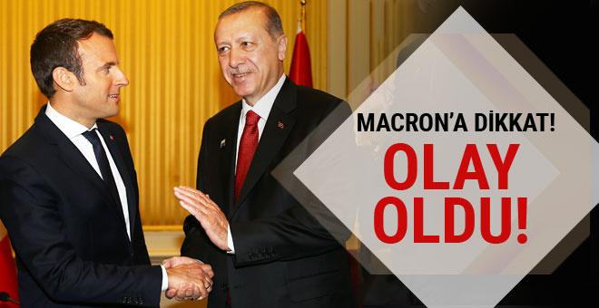 Macron'un Erdoğan'a bakışı sosyal medyada olay oldu!