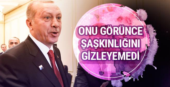 Erdoğan onu görünce şaşkınlığını gizleyemedi!