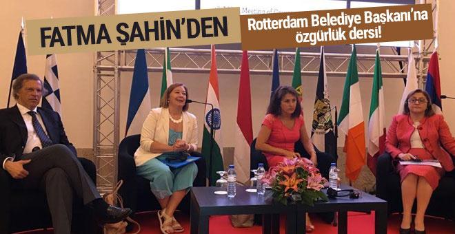 Şahin'den Hollanda'nın Rotterdam Belediye Başkanı'na özgürlük dersi