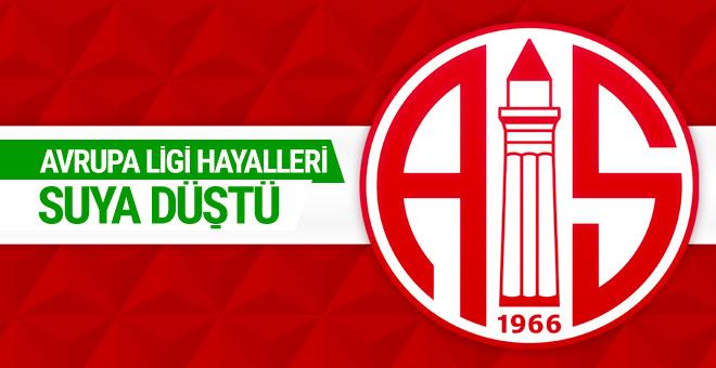 Antalyaspor'un Avrupa Ligi umutları suya düştü