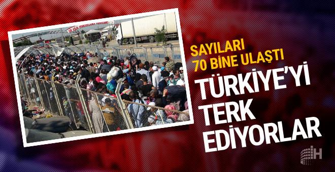Suriyeliler Türkiye'yi terk ediyor