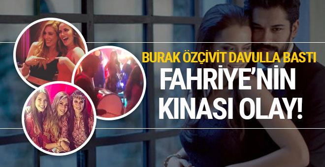 Fahriye Evcen'in kınasına bakın Burak Özçivit davulla bastı!