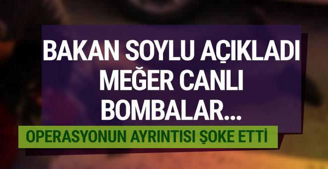 Bakan Soylu açıkladı canlı bombalar böyle yakalanmış