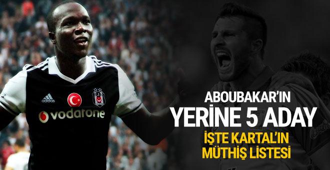 Beşiktaş'ta Aboubakar'ın yerine 5 aday!