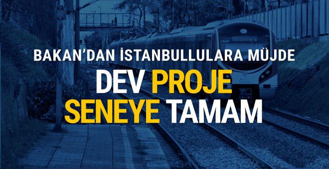 Bakan Arslan İstanbullulara müjdeyi verdi: Seneye tamam