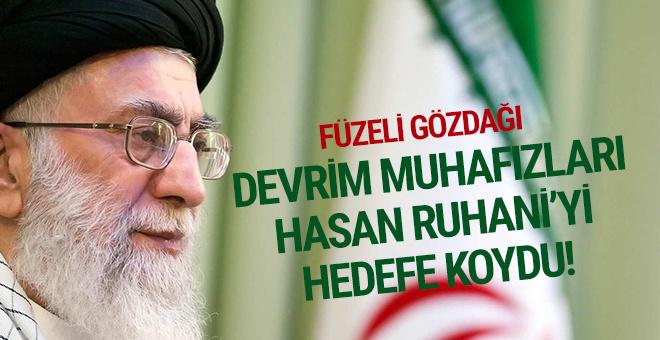 Devrim Muhafızları'ndan Ruhani'ye sert tepki: Füze sahipleriyiz'