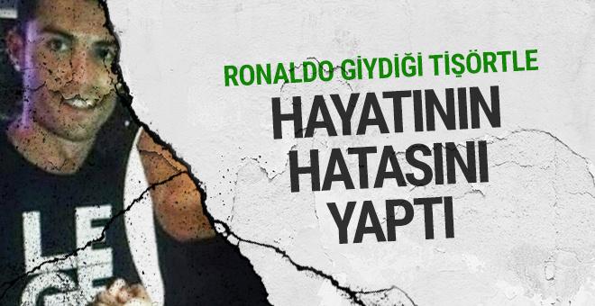 Cristiano Ronaldo'nun giydiği tshirt olay oldu