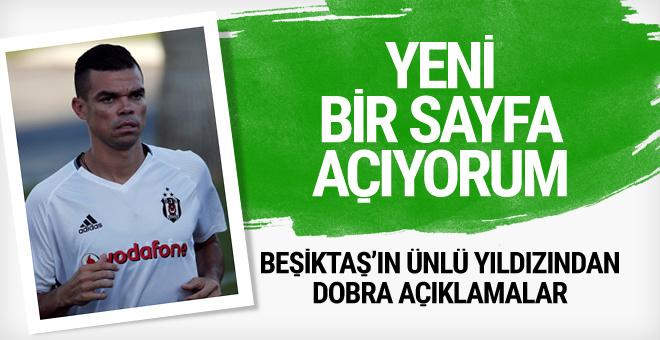 Beşiktaş'ın ünlü yıldızı Pepe'den dobra açıklamalar