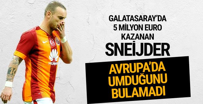 Wesley Sneijder Avrupa'da umduğunu bulamadı