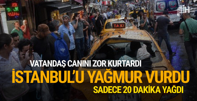 İstanbul fırtınayla yıkıldı! Son dakika haberleri