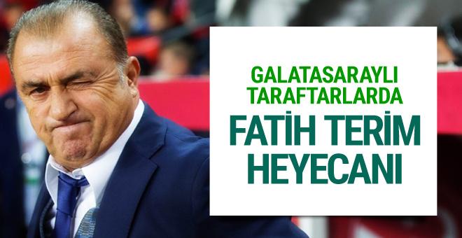 Galatasaraylı taraftarların Fatih Terim heyecanı