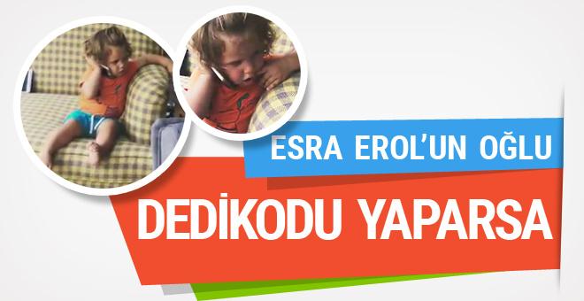Esra Erol'un minik oğlu dedikodu yaparsa...