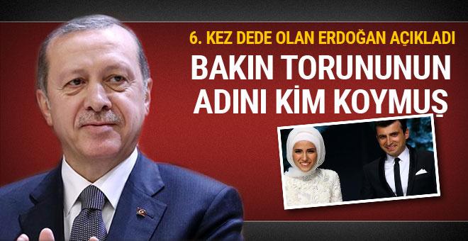 Cumhurbaşkanı Erdoğan açıkladı bakın 6. torununun ismini kim koymuş?