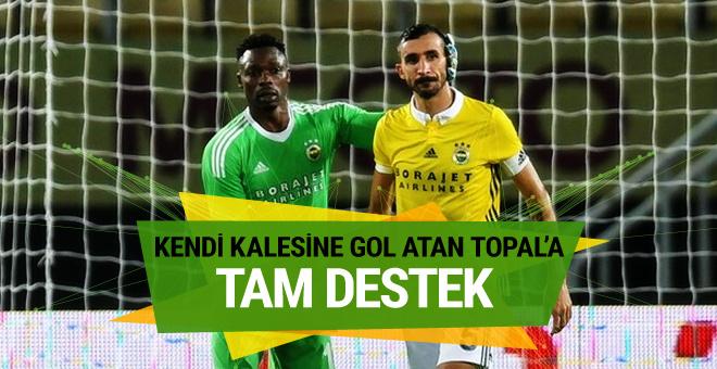 Fenerbahçeli futbolculardan Mehmet Topal'a moral