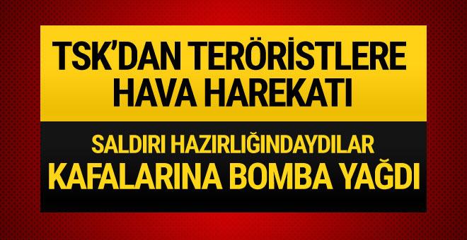 Diyarbakır'da teröristlere hava harekatı
