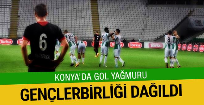 Atiker Konyaspor sahasında Gençlerbirliği'ni dağıttı