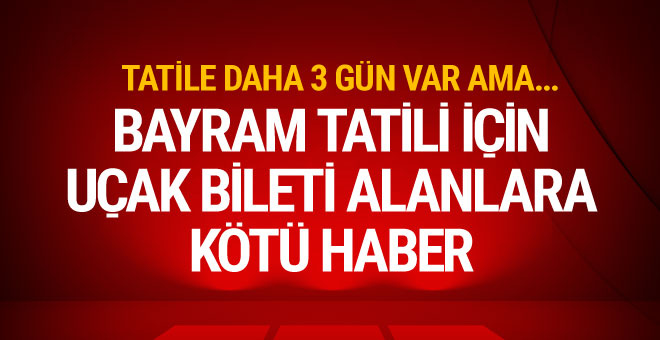 Uçak bileti olanlar dikkat Atatürk Havalimanı'nda yoğunluk
