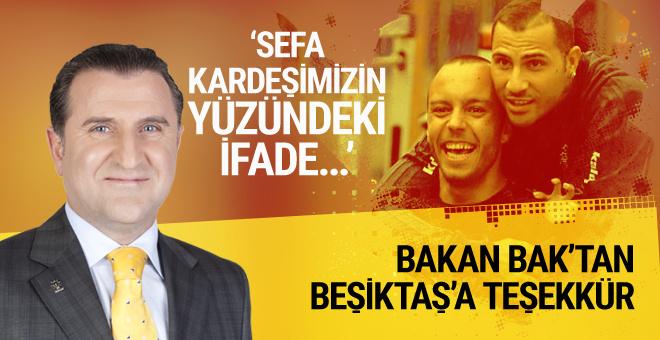 Gençlik ve Spor Bakanı Osman Aşkın Bak'tan Beşiktaş'a teşekkür