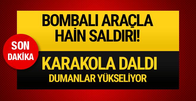 Diyarbakır'da karakola bombalı araçla intihar saldırısı!