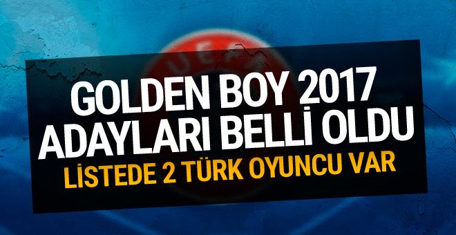 UEFA 2017 yılının Golden Boy adaylarını açıkladı