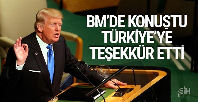 Trump ilk kez BM'de konuştu Türkiye'ye teşekkür etti