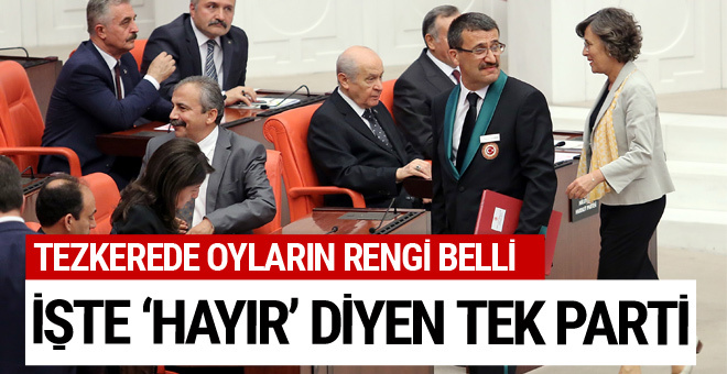 Tezkereye 'hayır' diyen tek parti HDP