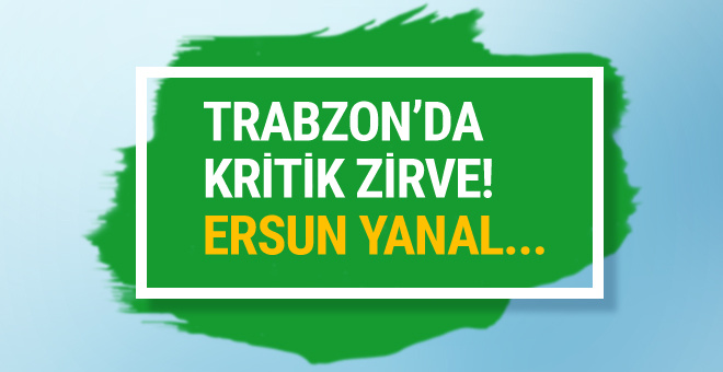 Trabzonspor'da Ersun Yanal'ın geleceği tartışılıyor