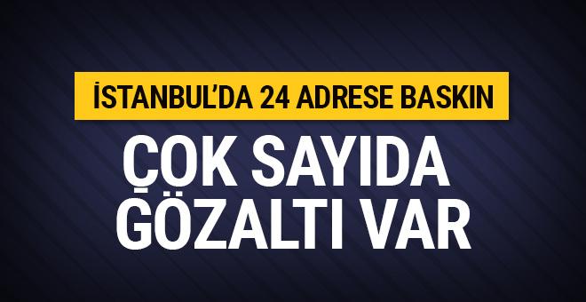 İstanbul'da 24 adrese baskın! Çok sayıda TSK mensubu...