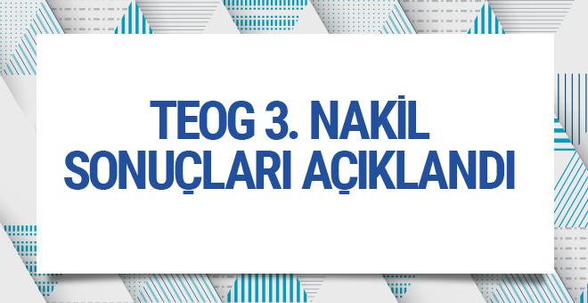 TEOG 3.nakil sonuçları MEB sorgu ekranı