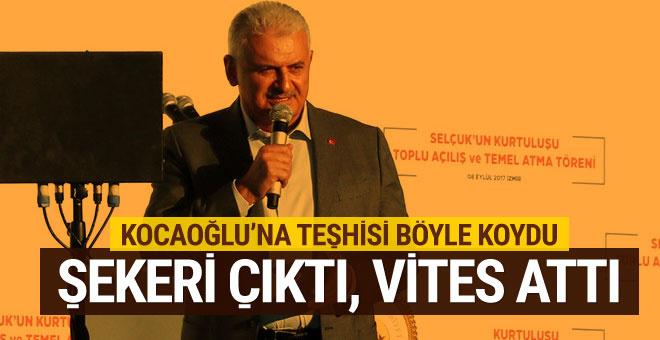 Başbakan, Kocaoğlu'na kürsüden cevap verdi: Şekeri çıkınca vitesler attı