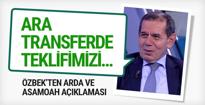 Dursun Özbek'ten Arda Turan ve Asamoah açıklaması!