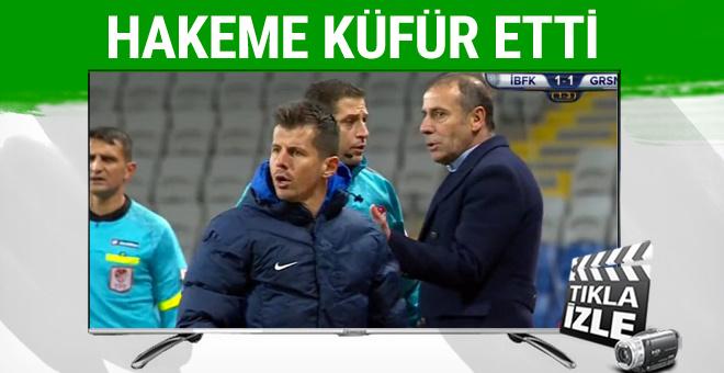 Emre Belözoğlu hakeme küfür etti