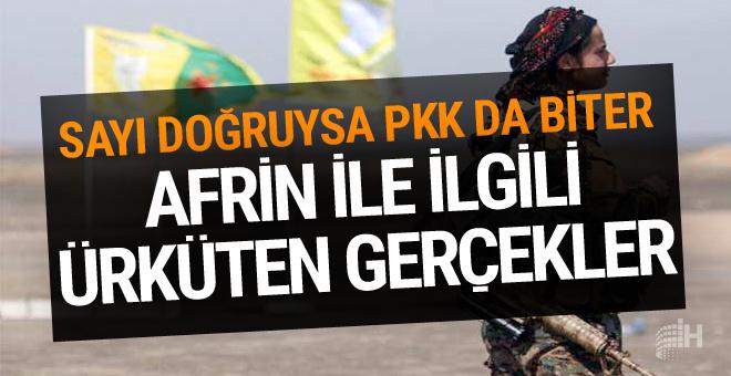 Afrin'le ilgili ürküten gerçekler! Bu sayı doğruysa PKK da biter